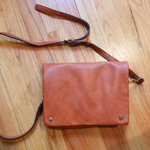 Street Level Demi Fold Over Leather Crossbody